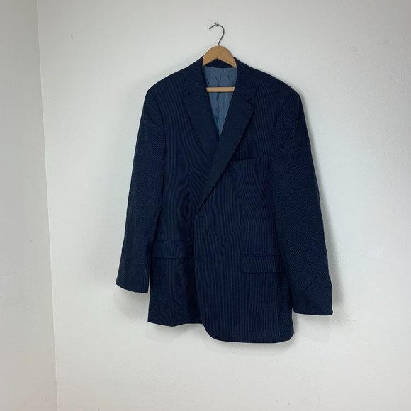 Hugo Boss Other - Hugo Boss Navy Pinstriped Suit Coat Sport Jacket